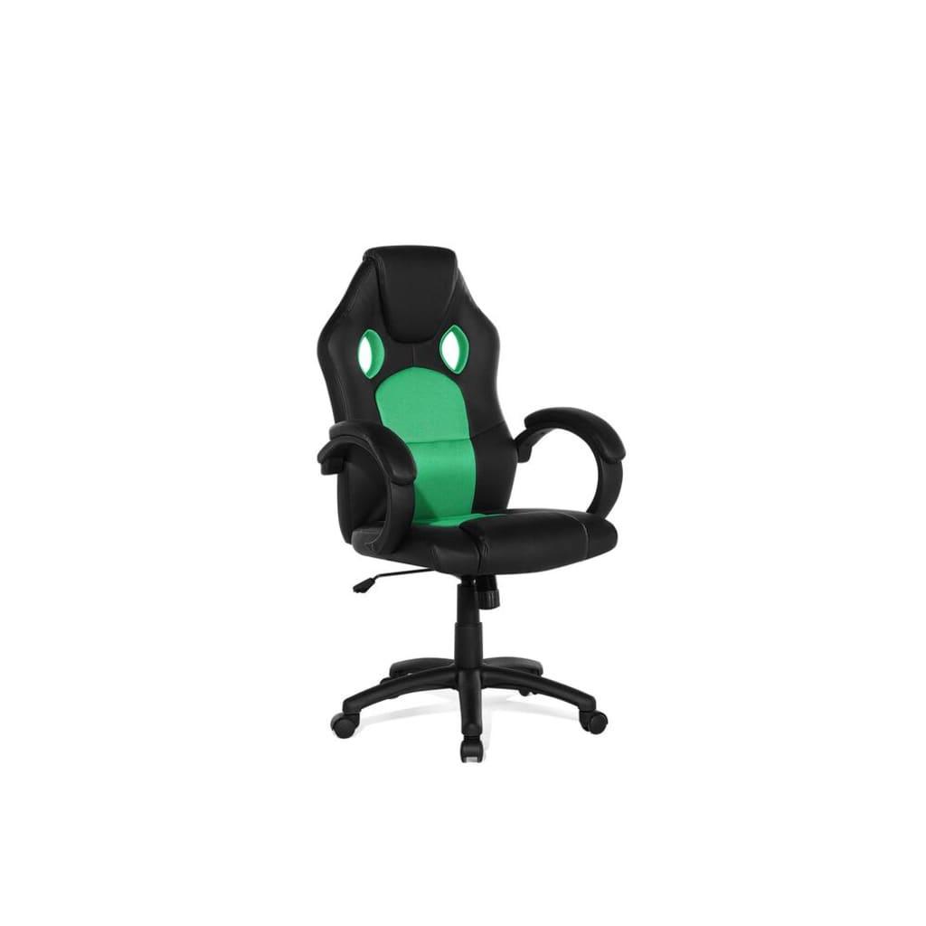 Beliani Rest - Bureaustoel Kunstleer groen