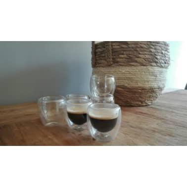 6 x espreso glas dubbelwandig 80 ml[2/3]