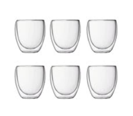 6 x espreso glas dubbelwandig 80 ml[1/3]