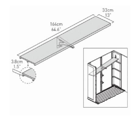 Keter Regal-Bausatz für Geräteschuppen 164 cm Schwarz 153395[6/6]
