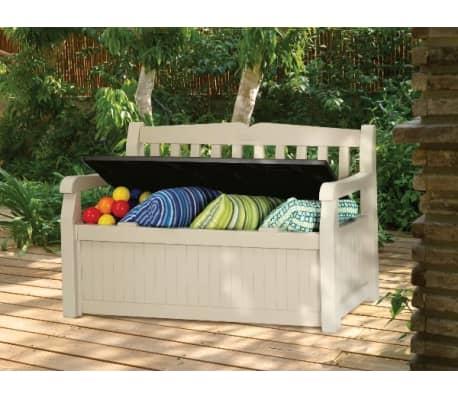 chalet jardin banc coffre de jardin. Black Bedroom Furniture Sets. Home Design Ideas