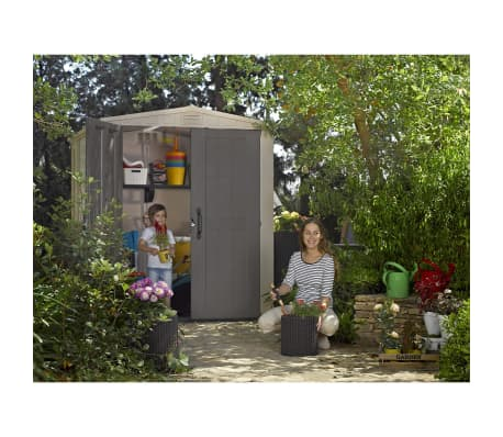 keter abri de jardin factor 6x6 211249. Black Bedroom Furniture Sets. Home Design Ideas