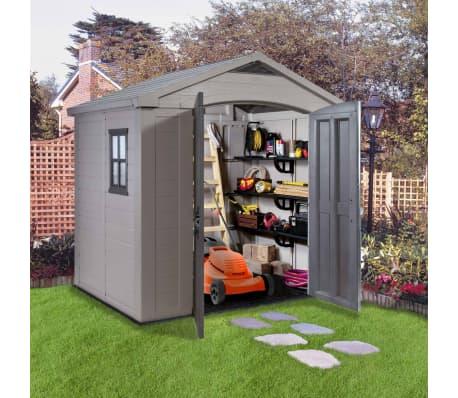 Keter Garden Storage Shed Factor 86 8x6 Beige 211248