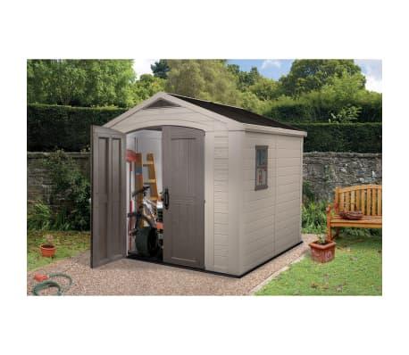 keter abri de jardin factor 8x8 211252. Black Bedroom Furniture Sets. Home Design Ideas