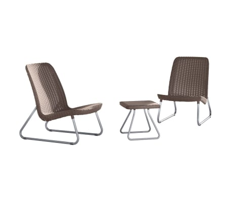 Keter Patio Furniture Set 3 Pieces Rio Cuccino 218157 1
