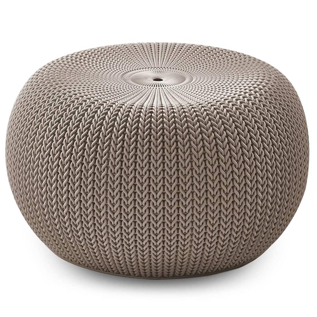 Keter Knit Taburet de exterior Cozy, bej, 229337 poza vidaxl.ro