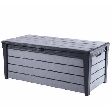 keter garten aufbewahrungsbox brushwood 455 l anthrazit. Black Bedroom Furniture Sets. Home Design Ideas