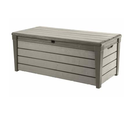 Keter Garten-Aufbewahrungsbox Brushwood 455 L Taupe 228855[1/6]