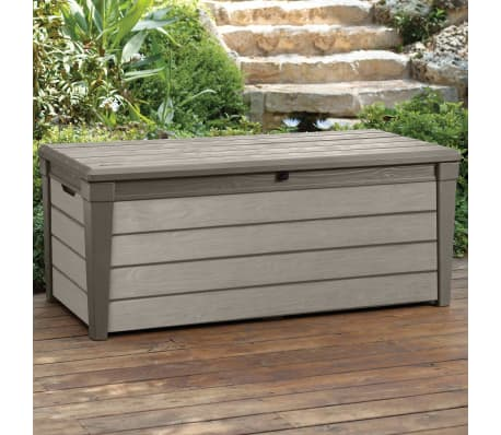 Keter Garten-Aufbewahrungsbox Brushwood 455 L Taupe 228855[2/6]