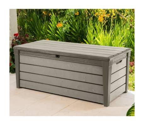 Keter Garten-Aufbewahrungsbox Brushwood 455 L Taupe 228855[3/6]