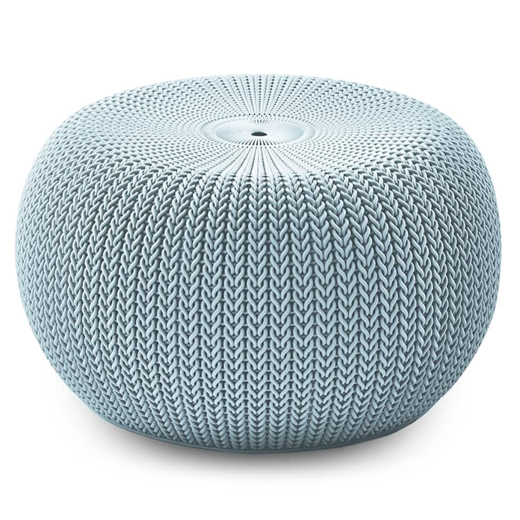 Keter Knit Taburet de exterior Cozy, albastru, 229340 poza vidaxl.ro