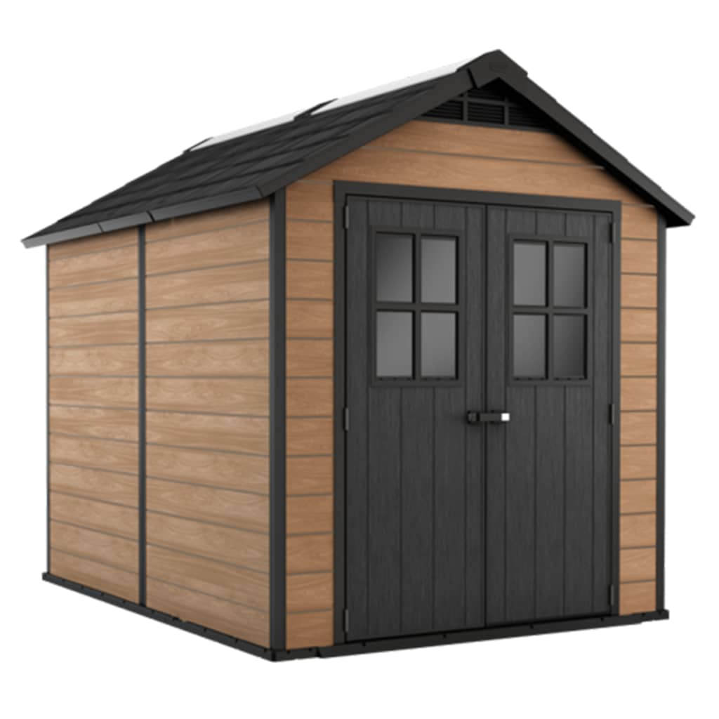 Keter Opbergschuur Woodshield 759 hout-look bruin 243410
