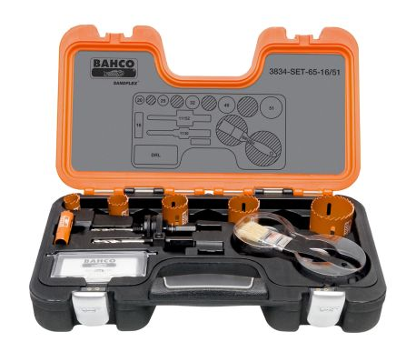 BAHCO Scie cloche professionnelle 16-51 mm 3834-SET-65-16/51