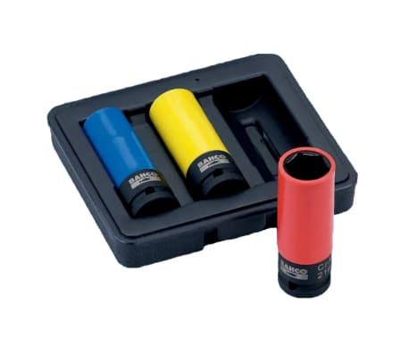 BAHCO Set de 3 douilles à choc 17/19/21 mm BWSS12P3