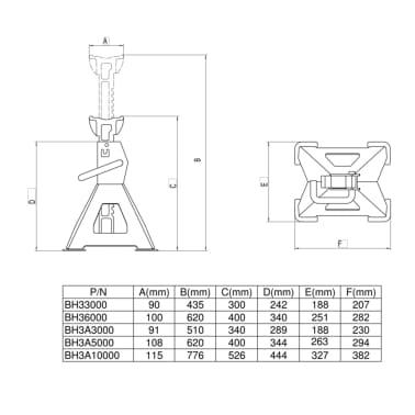BAHCO KFZ PKW Unterstellböcke 2 Stück 3000 kg BH3A3000[2/2]
