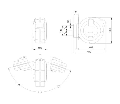 BAHCO Luchtslanghaspel 15 m BPHRC1015[3/3]