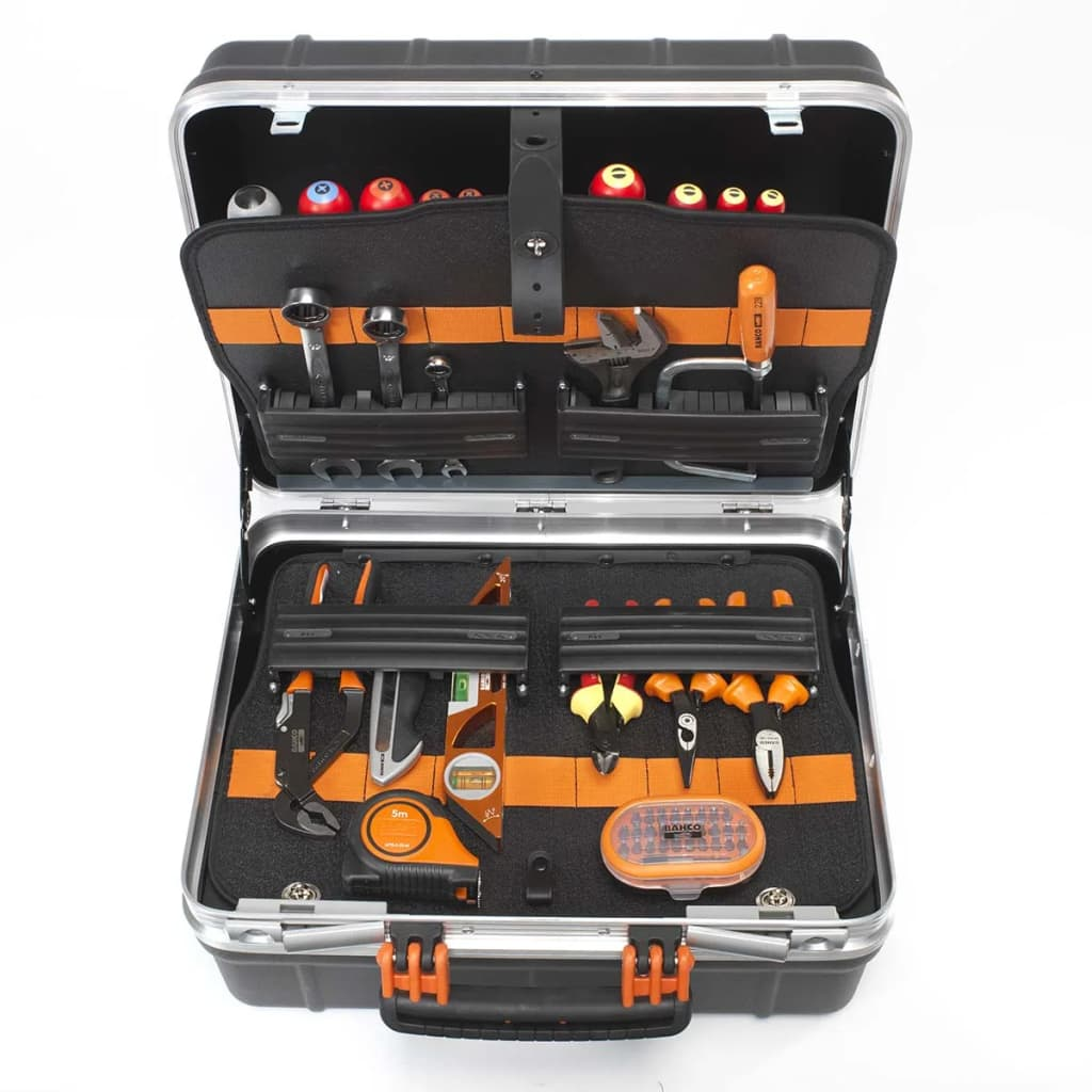 BAHCO Cutie rigidă pentru unelte, cu 55 de unelte, 4750RCW011BNL poza vidaxl.ro