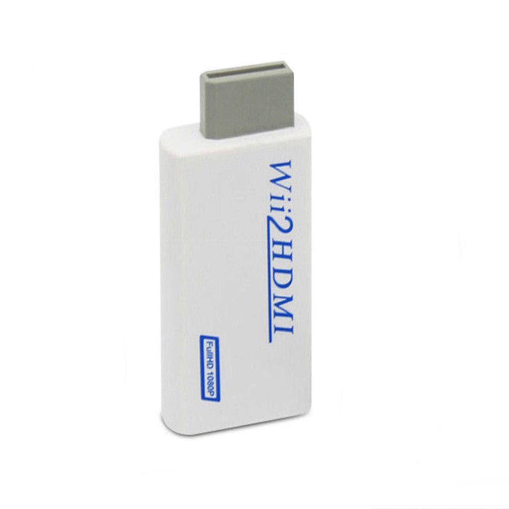 INF Adaptateur Wii vers HDMI, Wii Hdmi 1080P, avec sortie audio 3,5 mm, po