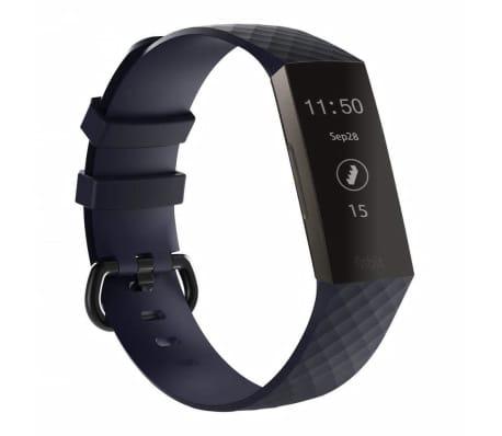 Bracelet silicone Fitbit Charge 3 - bleu foncé - S
