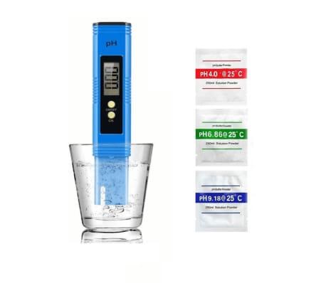 Handla Digital Ph Matare For Vatten Bla Vidaxl Se