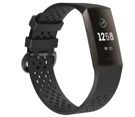 Fitbit Charge 3 armband - svart - S
