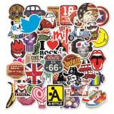 Waterdichte stickers in 100-pack met verschillende motieven