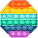 Pop It Fidget Spielzeug Achteckig Regenbogenfarben