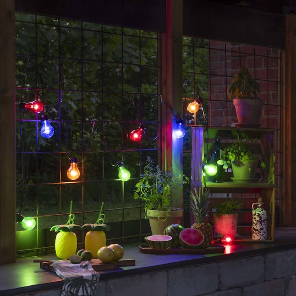 KONSTSMIDE Luci per Feste con 10 Lampadine Set Estensione Multicolore