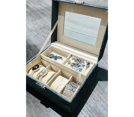 Victoria's Design Smyckeskrin Sammet grå[3/6]