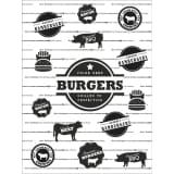 FORM Living Hamburgerpapper Underlägg Hamburgare papper 25-pack
