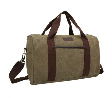 iEnjoy olivgrön träningsväska eller weekendbags i slitstark tyg