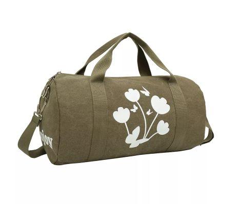 iEnjoy olivgrön weekendbags eller träningsväska i slitstark tyg