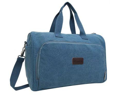 iEnjoy blå weekendväska eller träningsväska i slitstark tyg