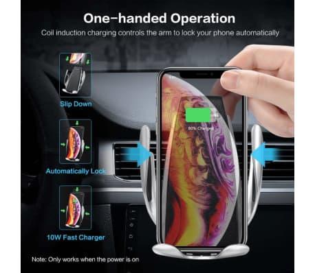 C4U® Universal bilhållare Qi trådlös billaddare fläkthållare