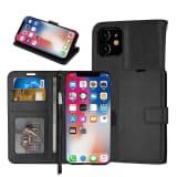 Läderfodral / Plånbok - iPhone 11 Pro Max, 6.5 - plånboksfodral C4U®
