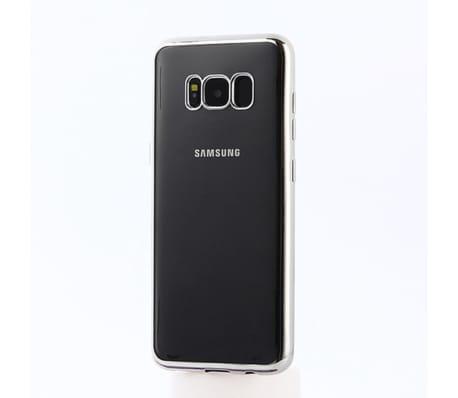 Samsung Galaxy S8 | Mjukt, Genomskinligt Skal med Silverkant[1/2]