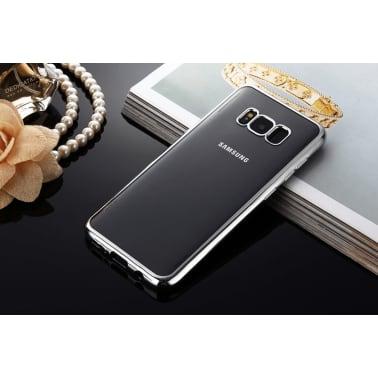 Samsung Galaxy S8 | Mjukt, Genomskinligt Skal med Silverkant[2/2]