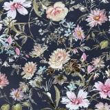 PIXIE DESIGN Servett Blommor svart 40-pack