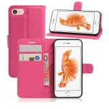 iPhone 8 - Pelle portafoglio Astuccio - Buio rosa