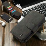 CASEME iPhone SE 5/5s Retro läder plånboksfodral - Svart
