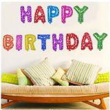 Happy Birthday Stora ballonger - Multi färg