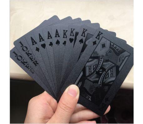 Svart Plast PVC Poker Vattentäta Spelkort Kortlek[4/9]