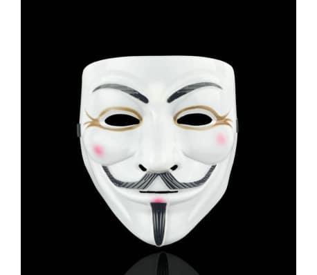 Anonymous face mask Guy Fawkes - Vit-Brun