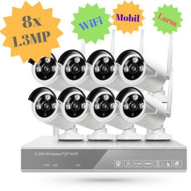 STORT övervakningssystem i WiFi. 8x kameror på 1.3 Megapixel ute/inne[1/5]
