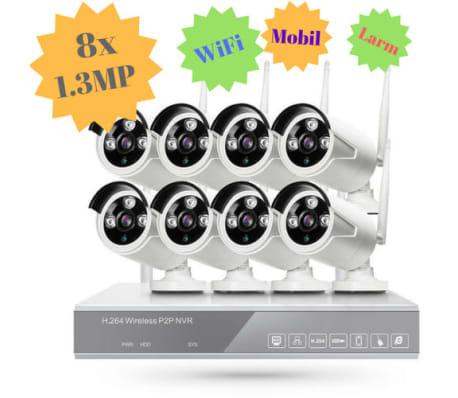 STORT övervakningssystem i WiFi. 8x kameror på 1.3 Megapixel ute/inne[5/5]