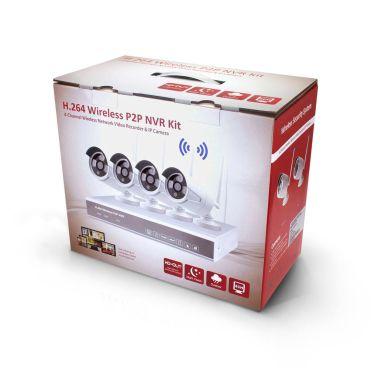 Övervakningssystem WiFi, 4 övervakningskameror 2.0MP Inspelning, larm[1/5]