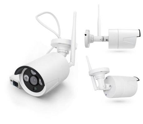 Övervakningssystem WiFi, 4 övervakningskameror 2.0MP Inspelning, larm[5/5]