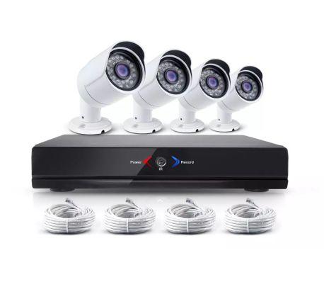 Kameraövervakning med 4 st IP-kameror i 1.3MP med POE[1/3]