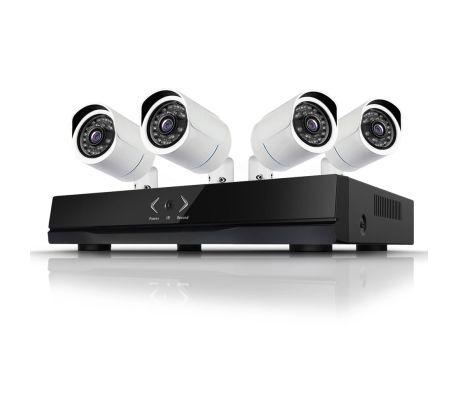 Kameraövervakning med 4 st IP-kameror i 1.3MP med POE[2/3]