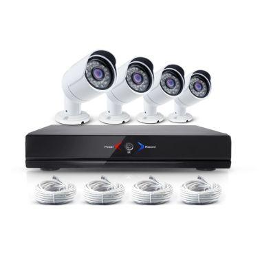 Övervakningssystem med 4x IP-kameror, 1.0MP. + NVR för inspelning mm.[1/3]